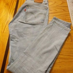 Levis High Wasted 501 Skinny Mom Jeans